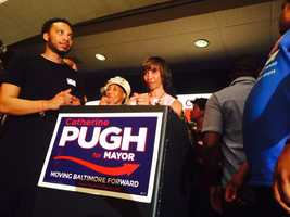 Catherine Pugh after speech