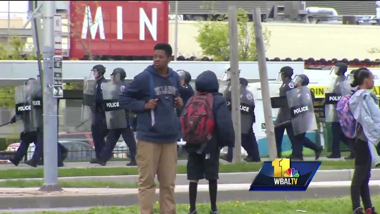 Unrest led to full-on riots in Baltimore last April, and social media posts gave police a heads-up that teenagers had planned a purge, or a day of lawlessness. The area between Mondawmin Mall and Frederick Douglass High School may be considered ground zero. Some of the students from Douglass were a part of last April's unrest. It was a disturbing scene involving police, the neighborhood and students. School system officials said they take some of the blame for what happened. They said there was a breakdown in communications with the Maryland Transit Administration over bus service for students.