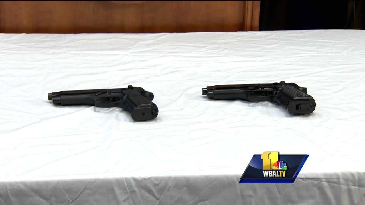 A 13-year-old Baltimore boy, shot by city police Wednesday, is recovering tonight. Police say he was carrying a pellet gun, but officers thought it was a semi-automatic pistol. The weapons is the kind of realistic, replica gun that was recently the target of state lawmakers. Del. Jill Carter recently tried to pass a bill banning those guns, but it never got out of committee.