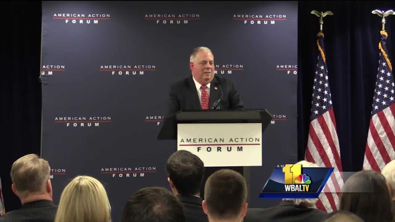 "Gov. Larry Hogan didn't hold back when he spoke out about his role in quelling last April's unrest in Baltimore. The governor said he saved the city by making quick and decisive decisions while the mayor sought political advice on how to handle the situation. The governor told the American Action Forum, a conservative forum in Washington, D.C., that Mayor Stephanie Rawlings-Blake ""hesitated"" when he offered to send in the National Guard."
