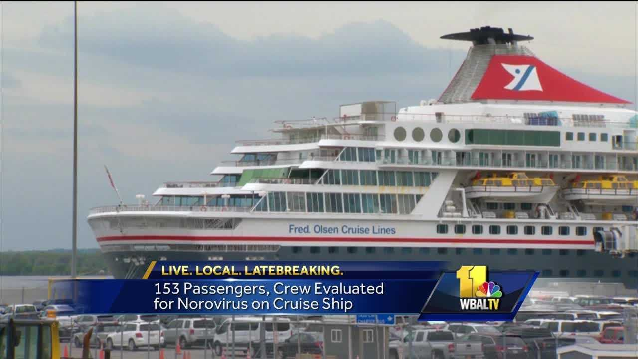 More than 150 people aboard the Balmoral fell ill. The Centers for Disease Control and Prevention said tests were positive for norovirus. The Balmoral, which was carrying more than 1,400 passengers and crew, and had left Great Britain on April 16. The ship arrived Thursday, a day early, at a port in Norfolk, Virginia, after 153 of the passengers and crew reported being ill during the ship's voyage.