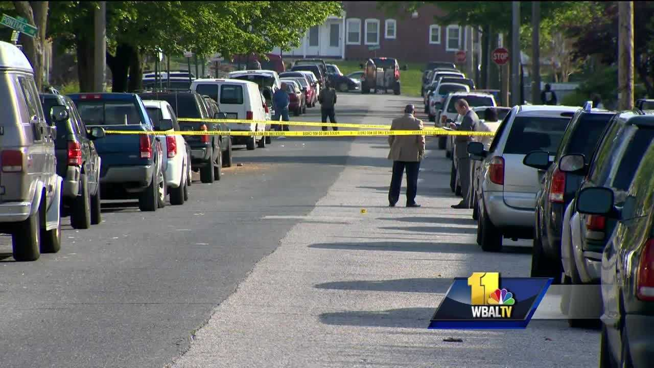 A teenager is dead and three other people were injured Monday in shootings in Baltimore, police said. The shooting scenes are about 12 blocks apart. Police said the shootings are being investigated as if they are related, and several people have been taken into custody for questioning.