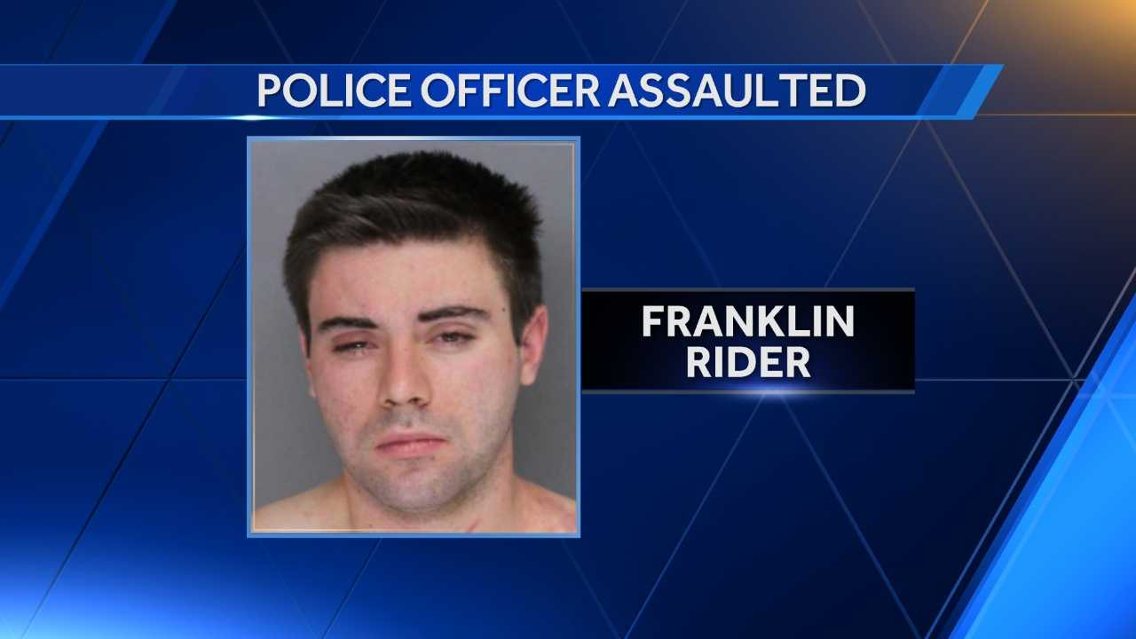 Franklin Rider, 19, was arrested after he allegedly attacked and injured a Baltimore County police officer Thursday.