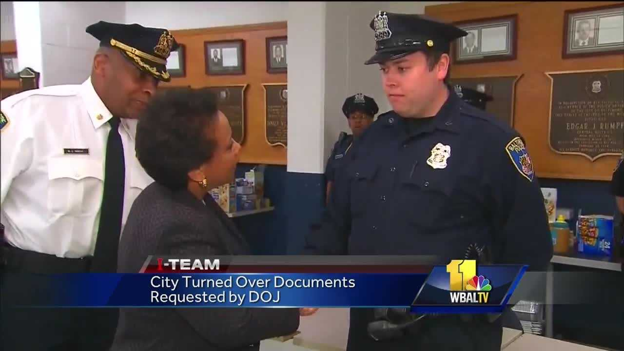 It's been a year since the Department of Justice launched a federal civil rights investigation of the Baltimore Police Department. City officials on Wednesday said all of the materials requested by investigators have been turned over.