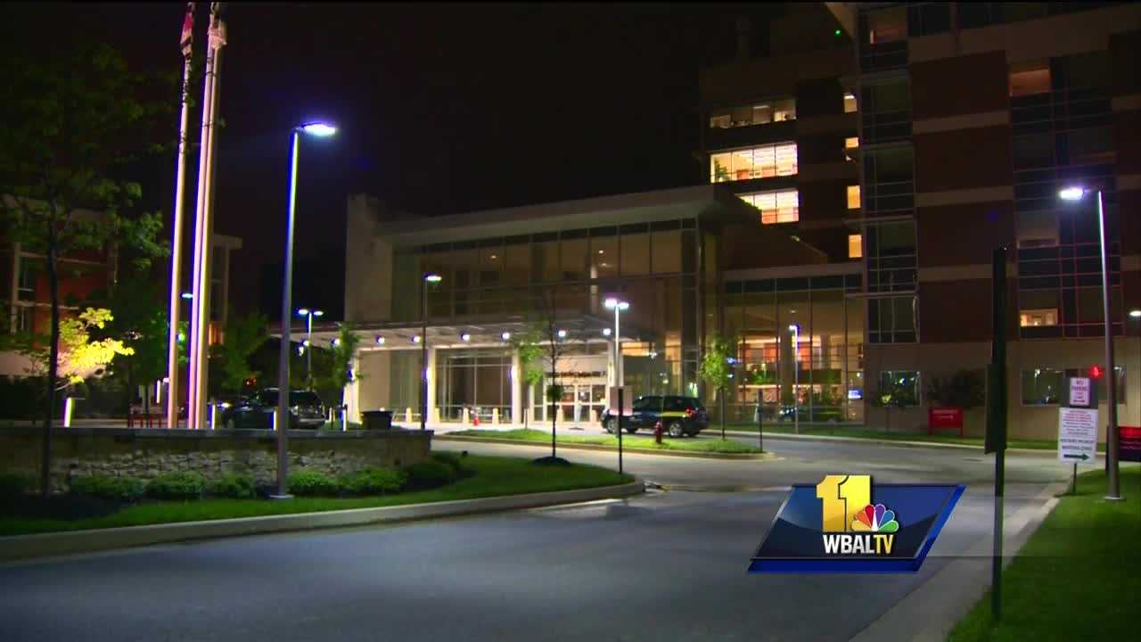 An employee of MedStar Franklin Square Medical Center was shot at a bus stop outside the hospital.
