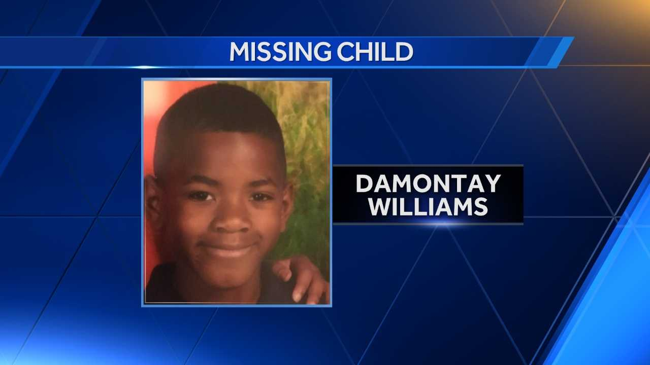 Damontay Williams was last seen in the area of Patterson Park at about 6:30 p.m. Thursday.