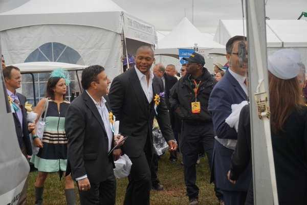 Former NFL running Back Eddie George at Preakness