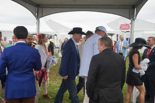 Hall of Fame Buffalo Bills quarterback Jim Kelly at Preakness
