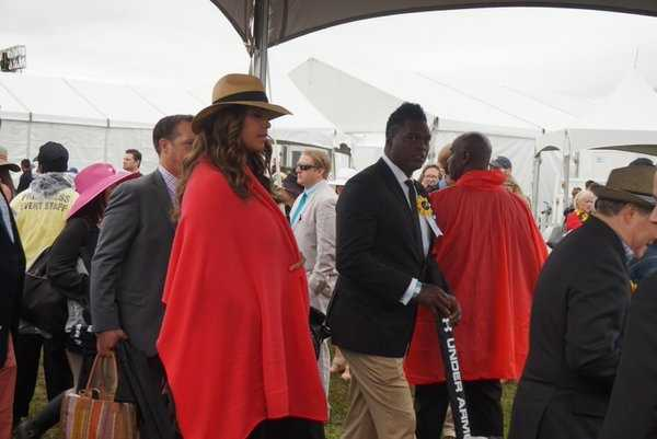 Former Redskins linebacker LaVar Arrington at the Preakness