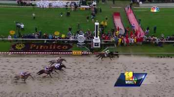 Exaggerator wins the 141st Preakness Stakes