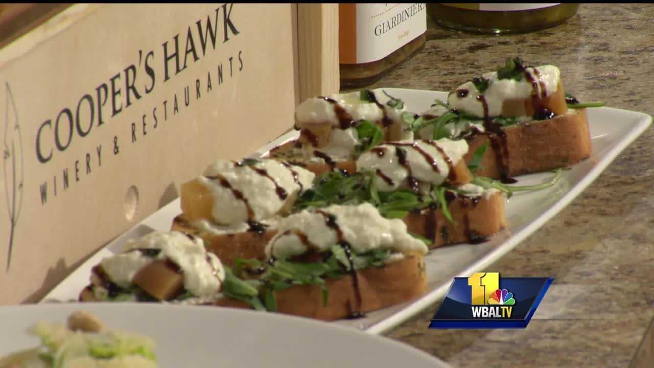 Matt McMillin from Cooper's Hawk Winery and Restaurants shows how to make one of their newest salads.