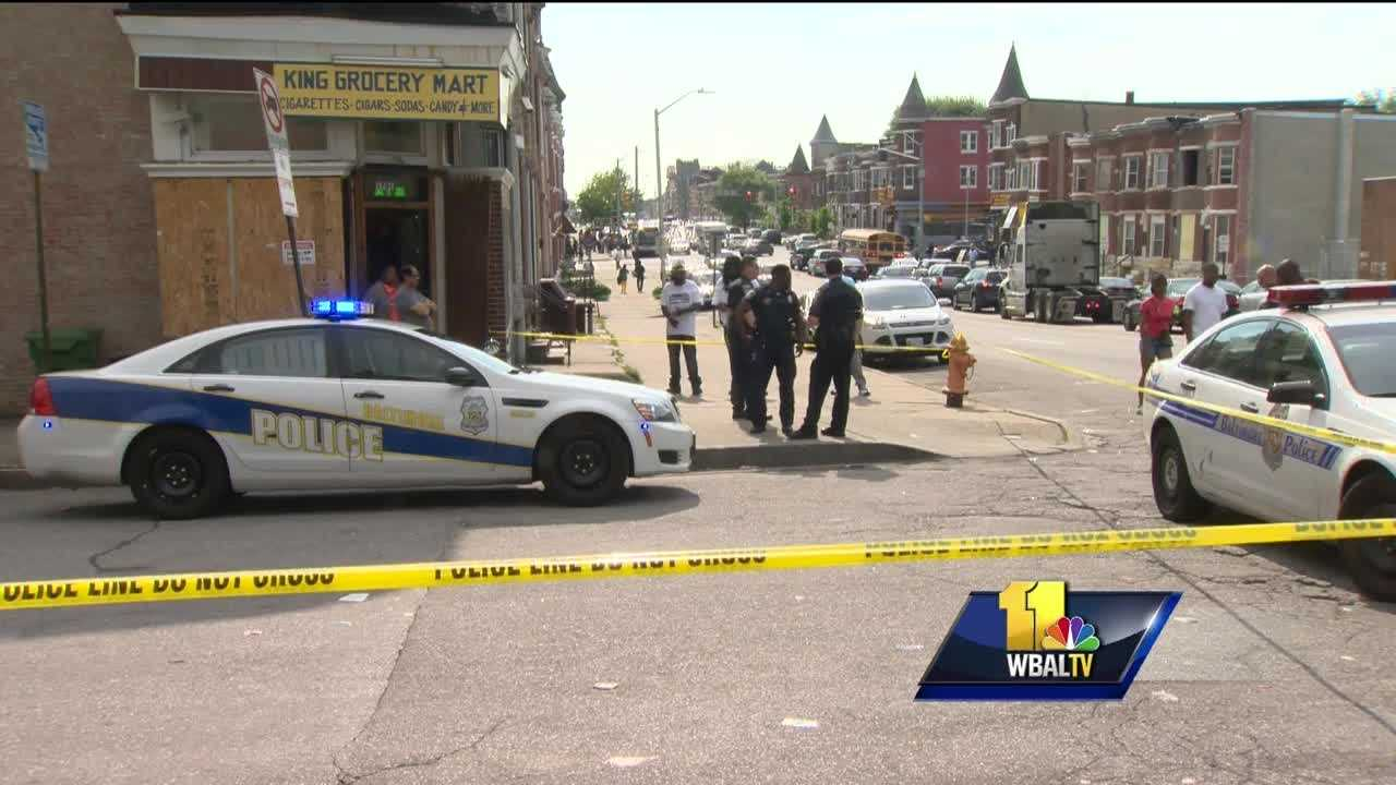 Two people were killed and two others were injured over a little more than three hours Wednesday evening in Baltimore, police said.