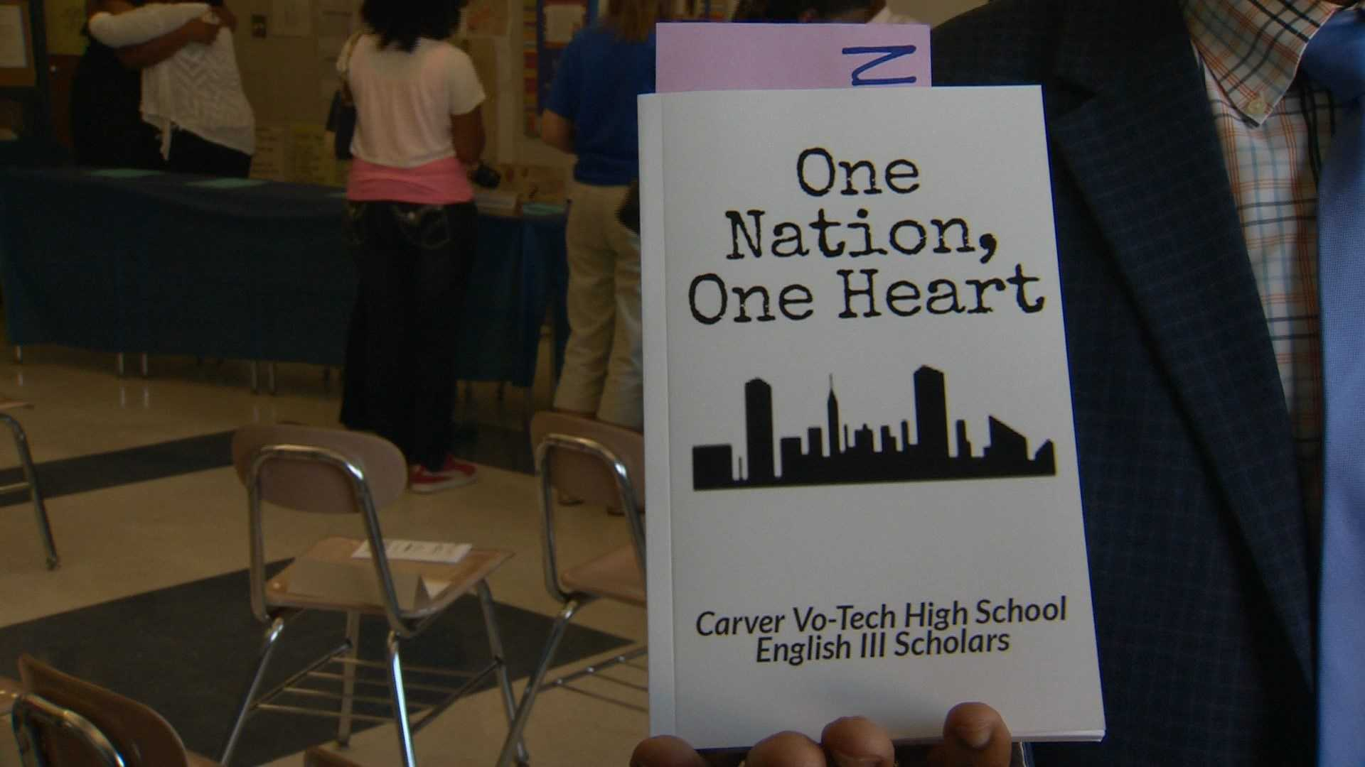 """One Nation, One Heart"" is a book of short stories written by a group of students at Carver Vo-Tech."