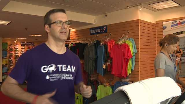 Jonathan Wilson running 24 hours to raise awareness for cancer.