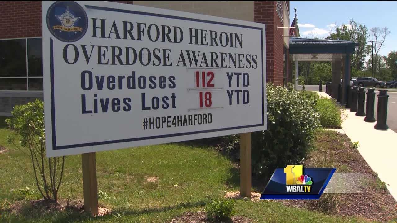 Members of Congress held a discussion Monday about a serial killer in Harford County -- heroin. Every Monday, the Harford County Sheriff's Office updates numbers on a big sign and others to reflect the increasing number of heroin overdoses and deaths. There have been 112 overdoses that they know of so far this year, 18 of which were fatal. The Sheriff's Office is setting up 2016 for another spike in statistics. As of Monday, the county has seen a 50 percent increase in overdose deaths compared to last year, and an 84 percent increase in nonfatal overdoses.