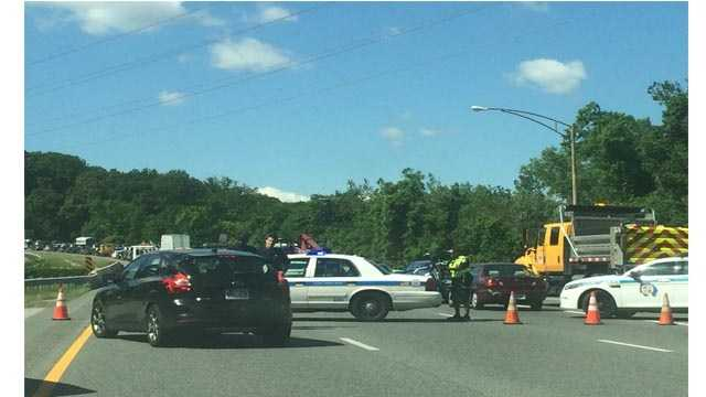 Maryland State Police said a crash has shut down all southbound lanes of I-83 near Ruxton Road in Baltimore County north of the city line.