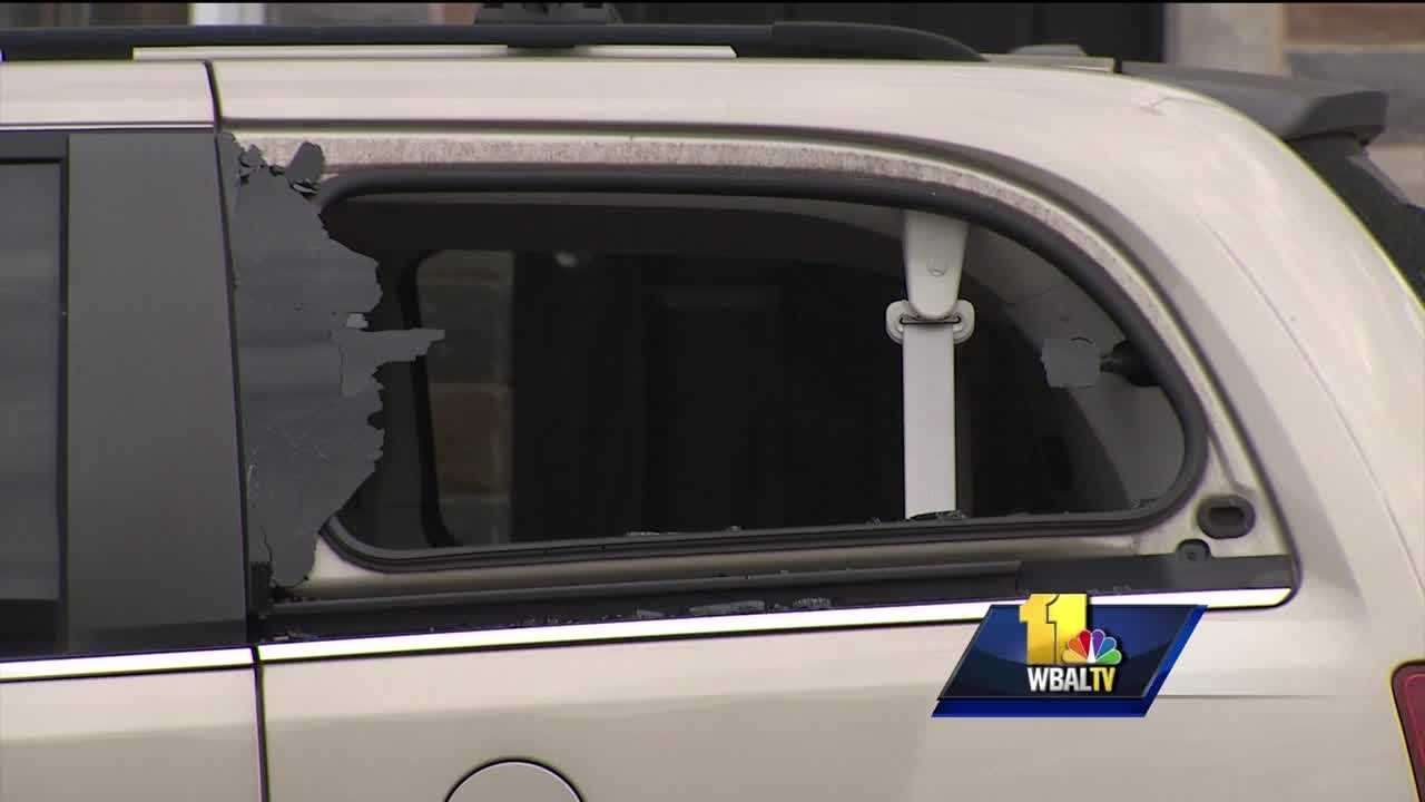 Baltimore City police have received reports of windows smashed out on 12 cars and a restaurant in the Canton area overnight. While the actual numbers are far less than what circulated online Wednesday morning through community groups online and on social media, authorities call the case troubling and a widespread crime of opportunity. The window of the restaurant was busted just after 4 a.m. and was replaced by lunch time. Many other victims weren't so lucky.