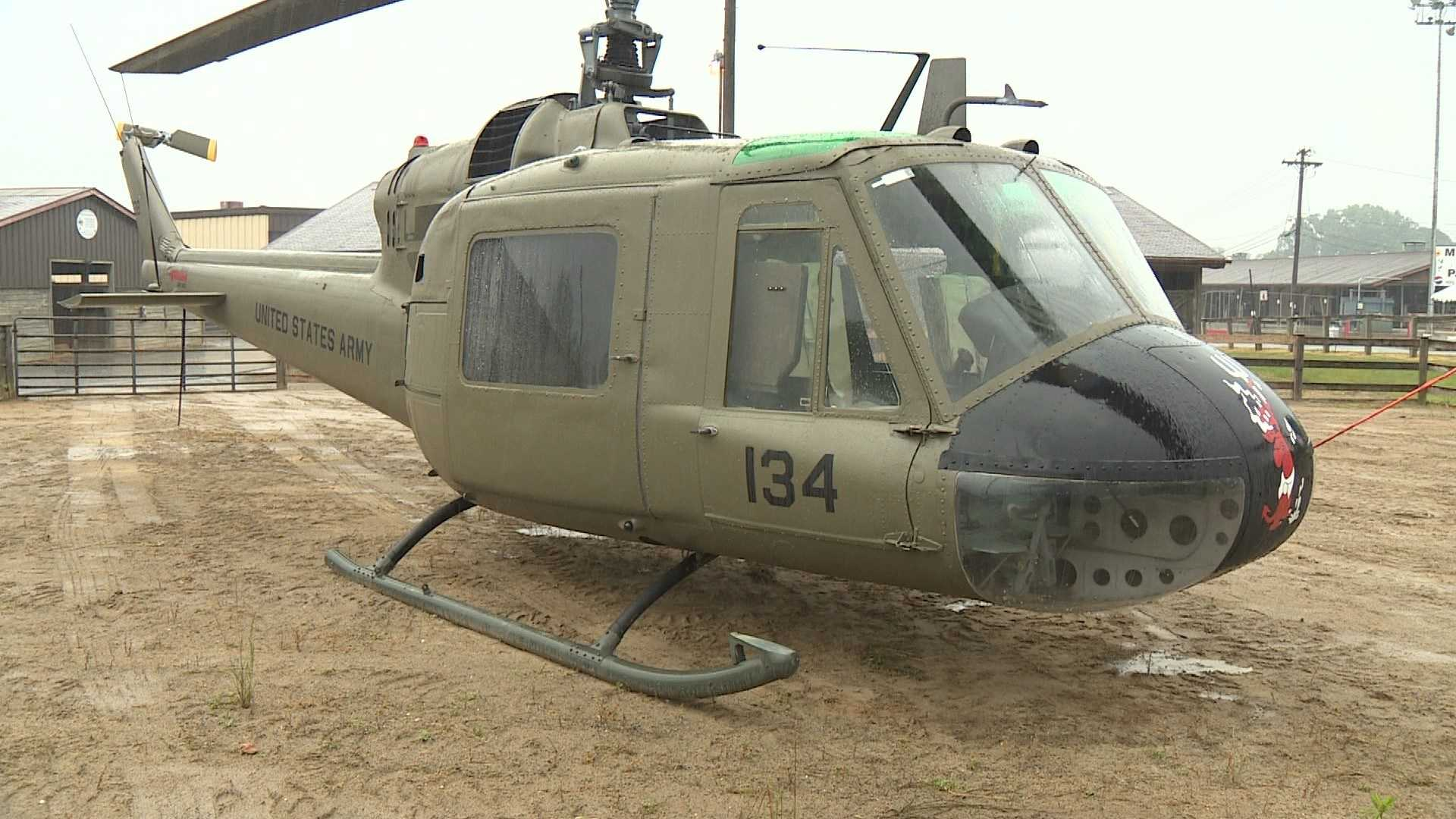 In the air it made one of the most recognizable sounds of the Vietnam War, and as it sits in the rain at Maryland State Fairgrounds, a Vietnam-era Huey will surely bring back memories during an event this weekend in Timonium