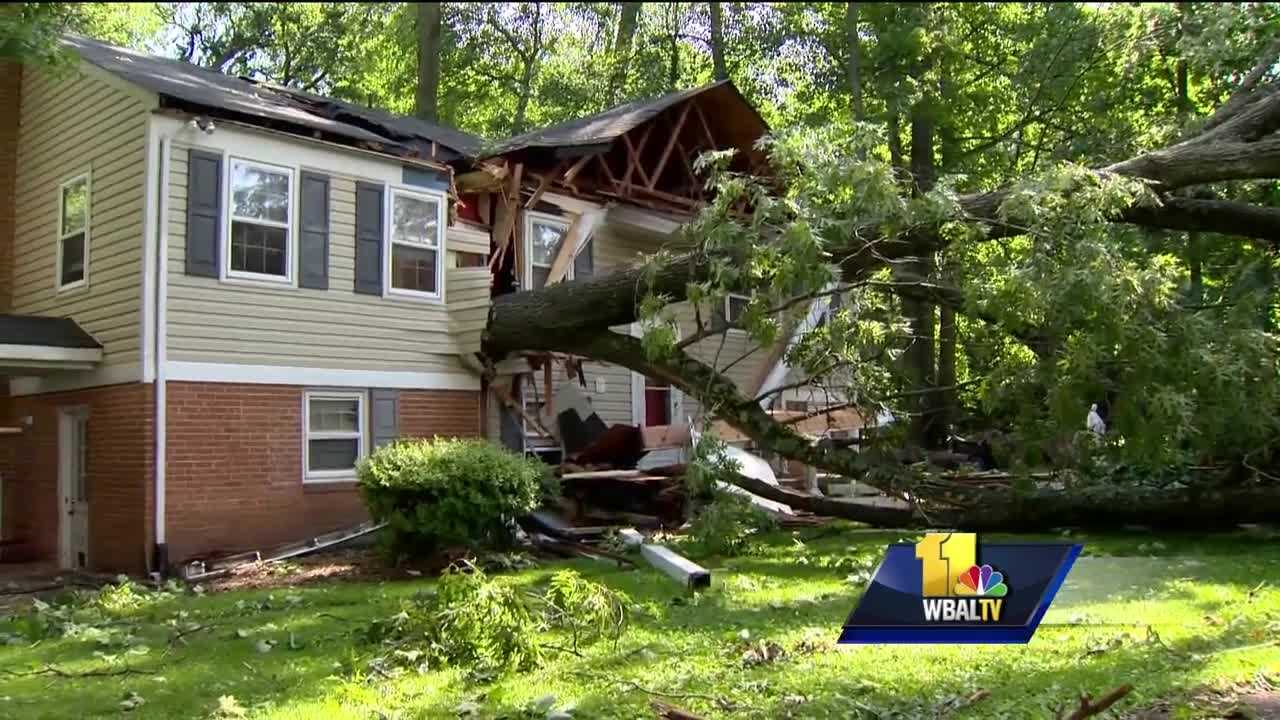Storms left behind significant damage across parts of Maryland. The National Weather Service confirms that an EF-0 tornado touched down Tuesday in Howard County, which was hit hard by the massive system.