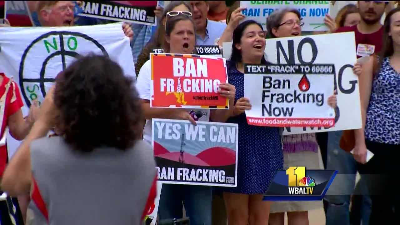 Fracking isn't currently allowed in Maryland, but it could be next year. The process of drawing up state regulations has attracted public interest and protests at the Maryland Department of the Environment. Developing rules for the natural gas extraction process known as fracking is a work in progress in Maryland, and it's about halfway done.