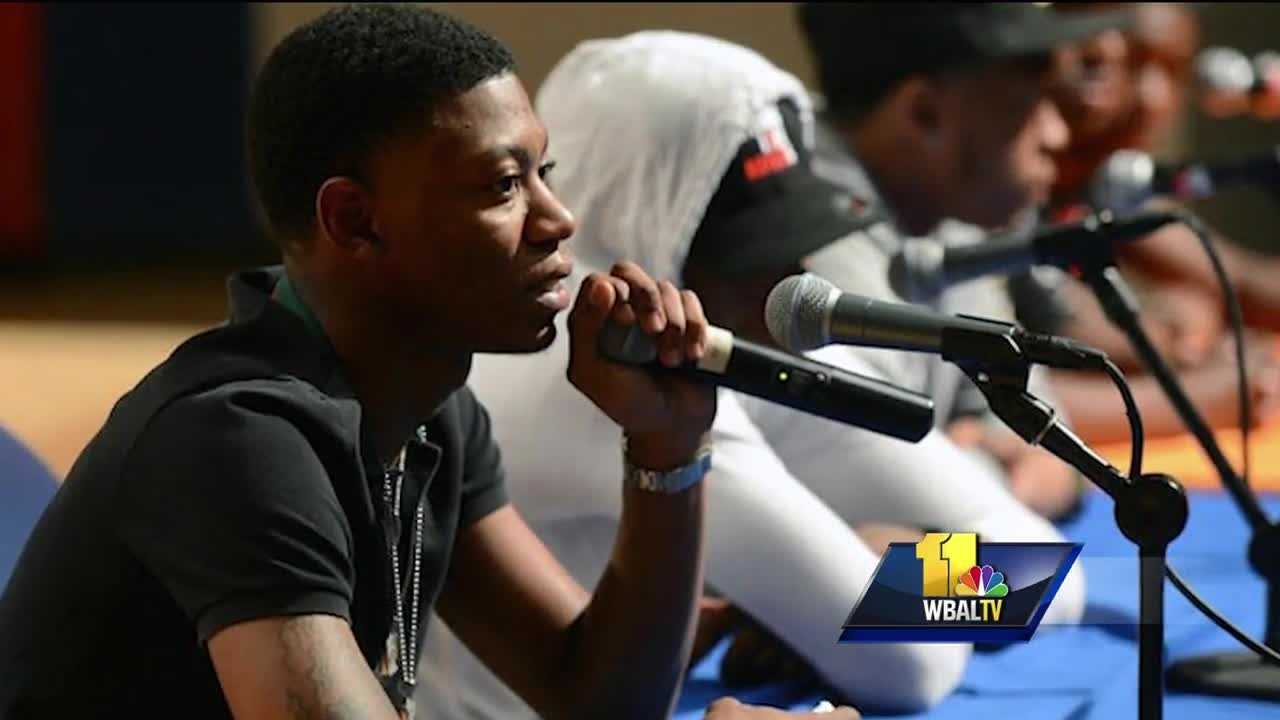 A public viewing was held Thursday for Lor Scoota, a popular Baltimore rapper who was fatally shot over the weekend.