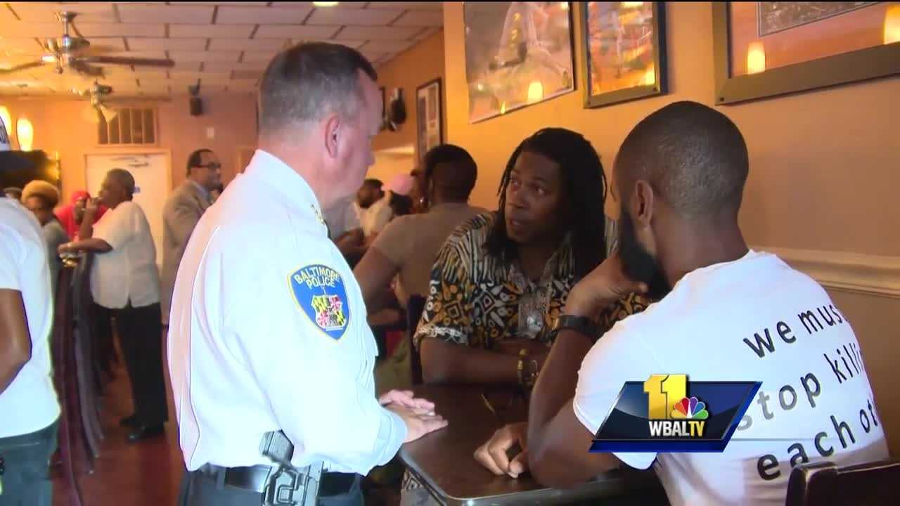A Baltimore restaurant owner who said he's tired of the strained relationship between police and the public is hoping to create change.