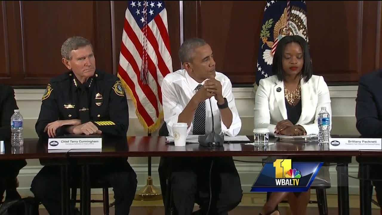 "Some are calling it an ""extraordinary"" meeting at the White House. Police, civil rights leaders and local politicians were invited Wednesday for a private, frank conversation with President Barack Obama about race and policing. Participants included activist DeRay Mckesson and Maryland Senate Minority Leader J.B. Jennings, who said he had doubts about the meeting before heading to Washington, D.C."