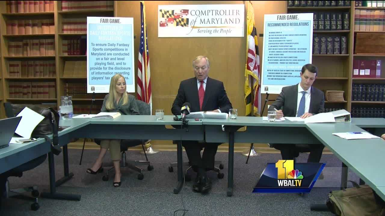 Maryland Comptroller Peter Franchot proposed on Thursday rules for regulating fantasy sports betting websites. He said the rules will ensure fairness and protect people who play. The regulations proposed Thursday only apply to daily fantasy sports contests and not the traditional season-long fantasy leagues hosted by such sites as Yahoo and ESPN.