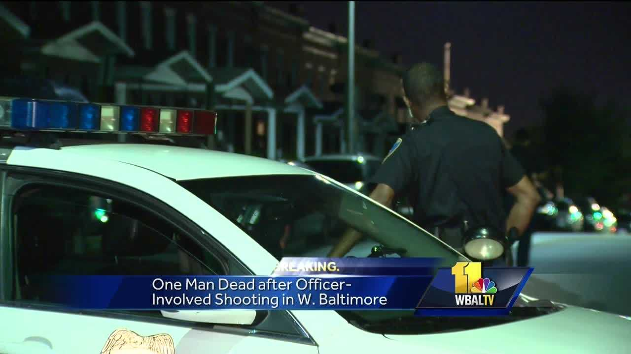 Baltimore police fatally shot an armed man who they said was firing at officers Thursday evening.