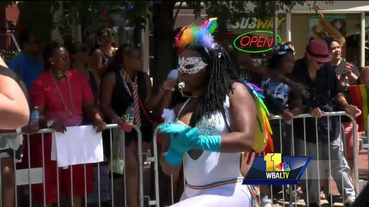 The streets of Mount Vernon were packed Saturday for the 41st Baltimore Pride Block Party. The festival attracts several thousands of people, and the heat didn't stop them from showing their pride.