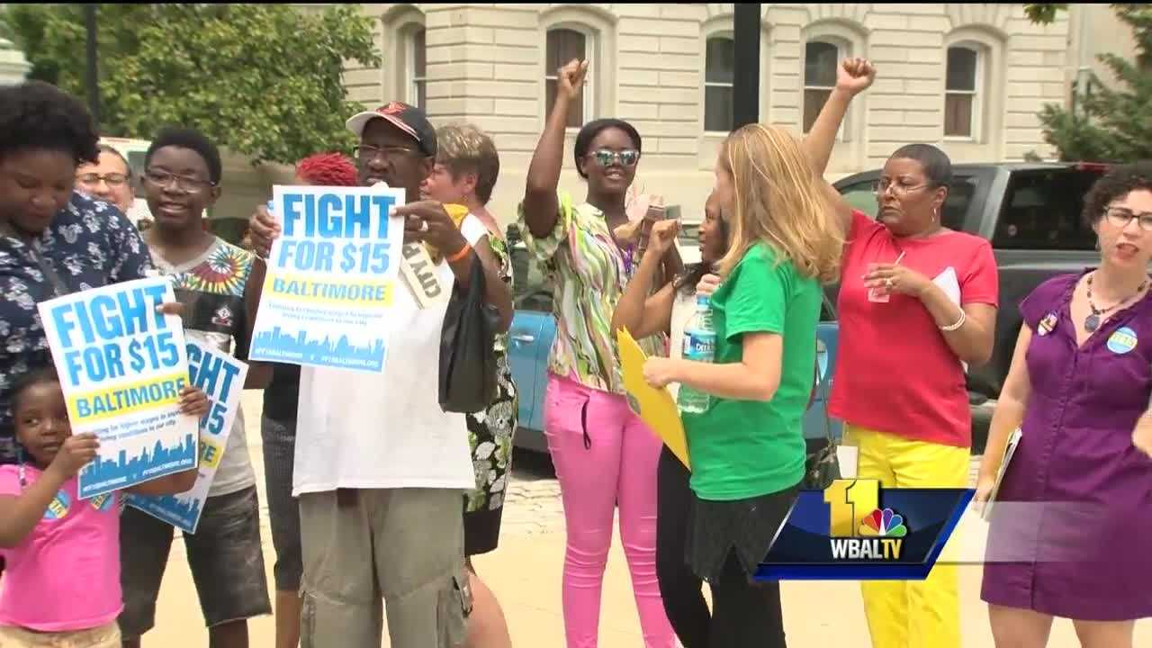 In a four to zero vote, the Baltimore City Council Labor Committee is sending the $15 minimum wage bill to the full council. Health care workers rallied outside of Baltimore City Hall to show their support for raising the minimum wage-saying their industry stands to benefit from the bill.
