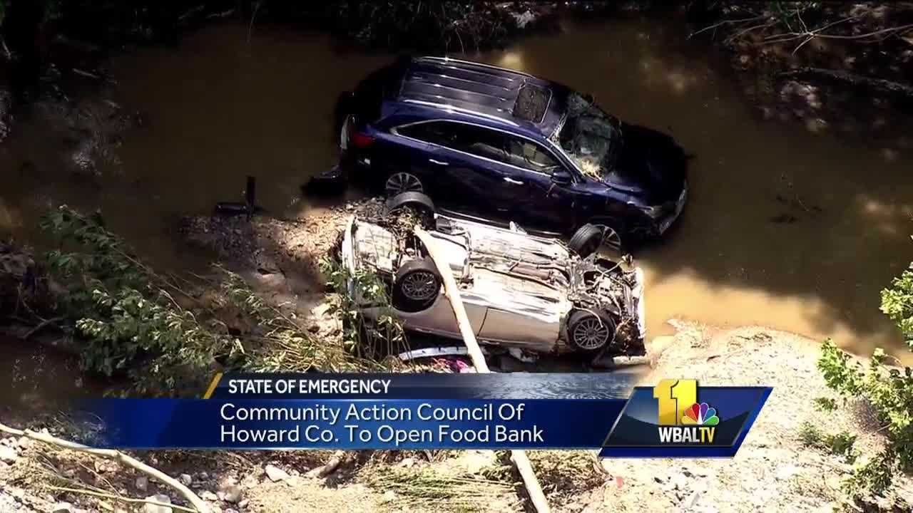 One day after a historic flood caused millions of dollars of damage to Ellicott City, the recovery efforts have begun. One of the first steps of the cleanup is to tow out all of the cars that litter the streets and streams. Also, there is a coordinated effort underway to establish a dedicated fund for cash donations through the Red Cross.