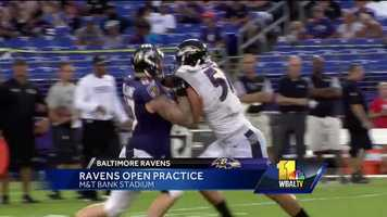 The Ravens held the first of their two free open practices at M&T Bank Stadium on Aug. 1.
