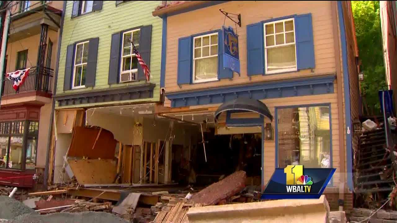 There was a major setback Wednesday in the cleanup effort underway on Main Street in Ellicott City after this weekend's historic flooding.