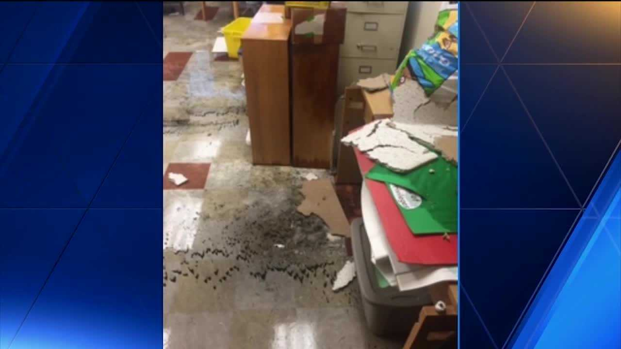 The staff at Violetville Elementary-Middle School is still mopping up after vandals broke into the school and flooded the entire building.