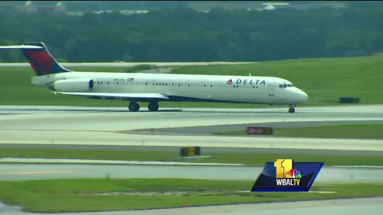Hundreds of Delta Air Lines flights were canceled Monday after a power outage caused a worldwide ground stop. The outage caused long lines at Baltimore-Washington International Thurgood Marshal Airport. Delta said some sort of power outage at the airline's hub in Atlanta overnight shut down its computer system worldwide, grounding flights for hours and disrupting travel for tens of thousands of people.