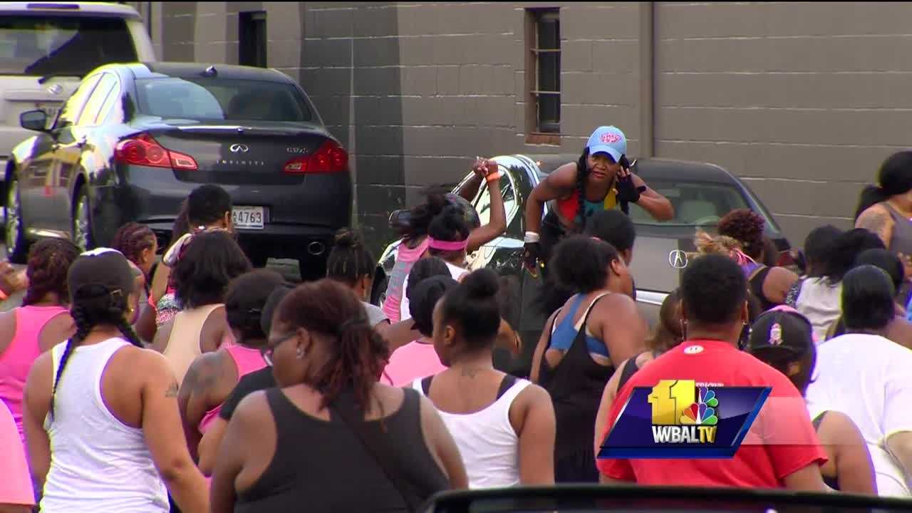 A Baltimore City neighborhood and a church are at odds over a Zumba class. It's considered one of the largest group exercise classes in Baltimore City. Some of the residents along Belair Road and White Avenue said it also has to be the loudest. The popular motivational class has been held in the parking lot of the Koinonia Baptist Church in northeast Baltimore since May.