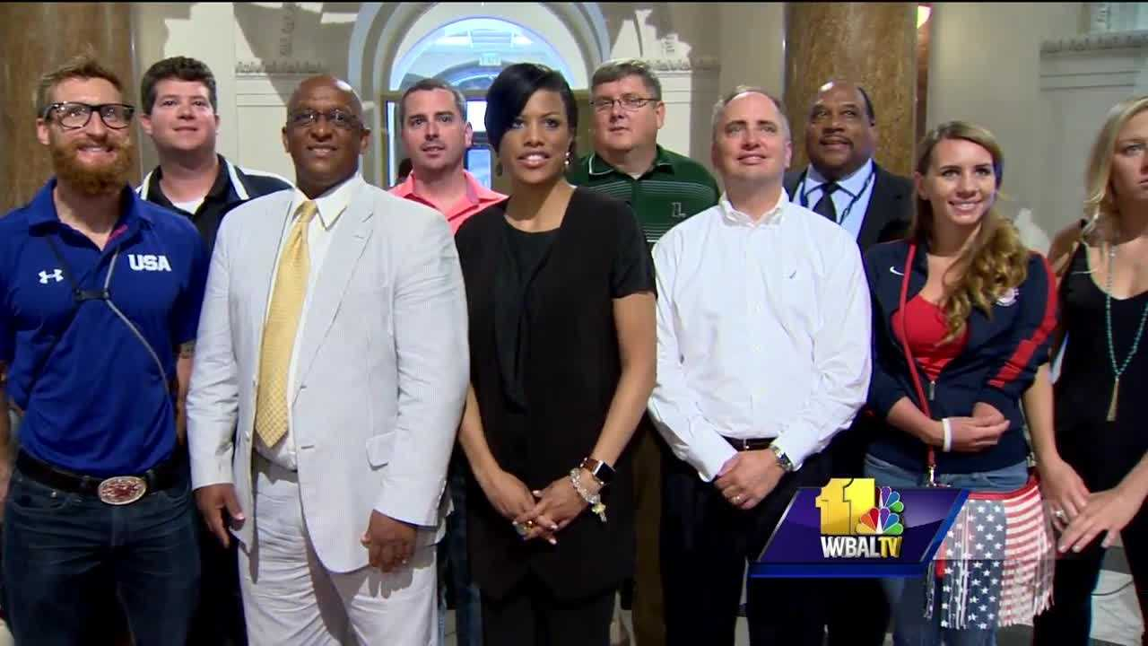 Baltimore's mayor on Thursday honored seven Paralympic athletes who live and train in Baltimore.