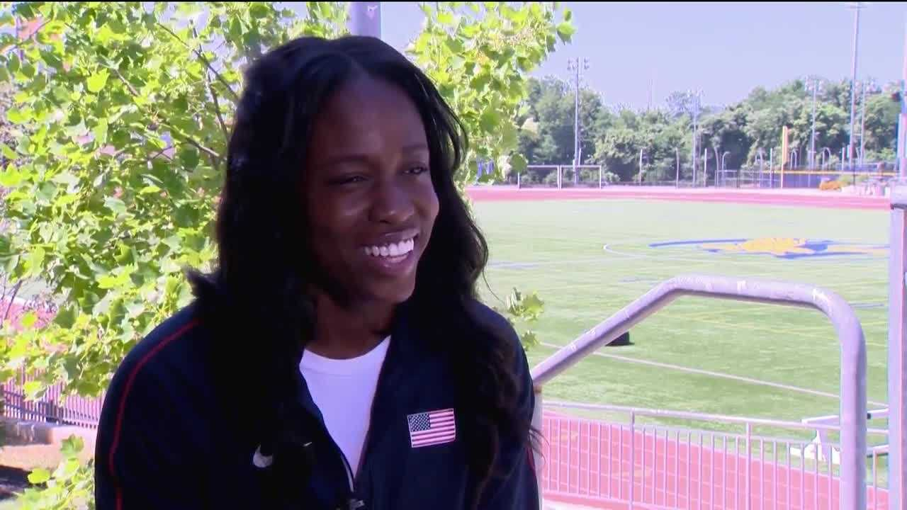 Christina Epps, 25, is a 2013 Coppin State graduate and a triple jumper on the U.S. track and field team