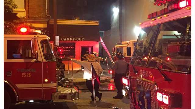City officials said the fire at Holy Frijoles, at 908 W. 36th St., was reported at 3:15 a.m. The fire reportedly started in the back of the restaurant.