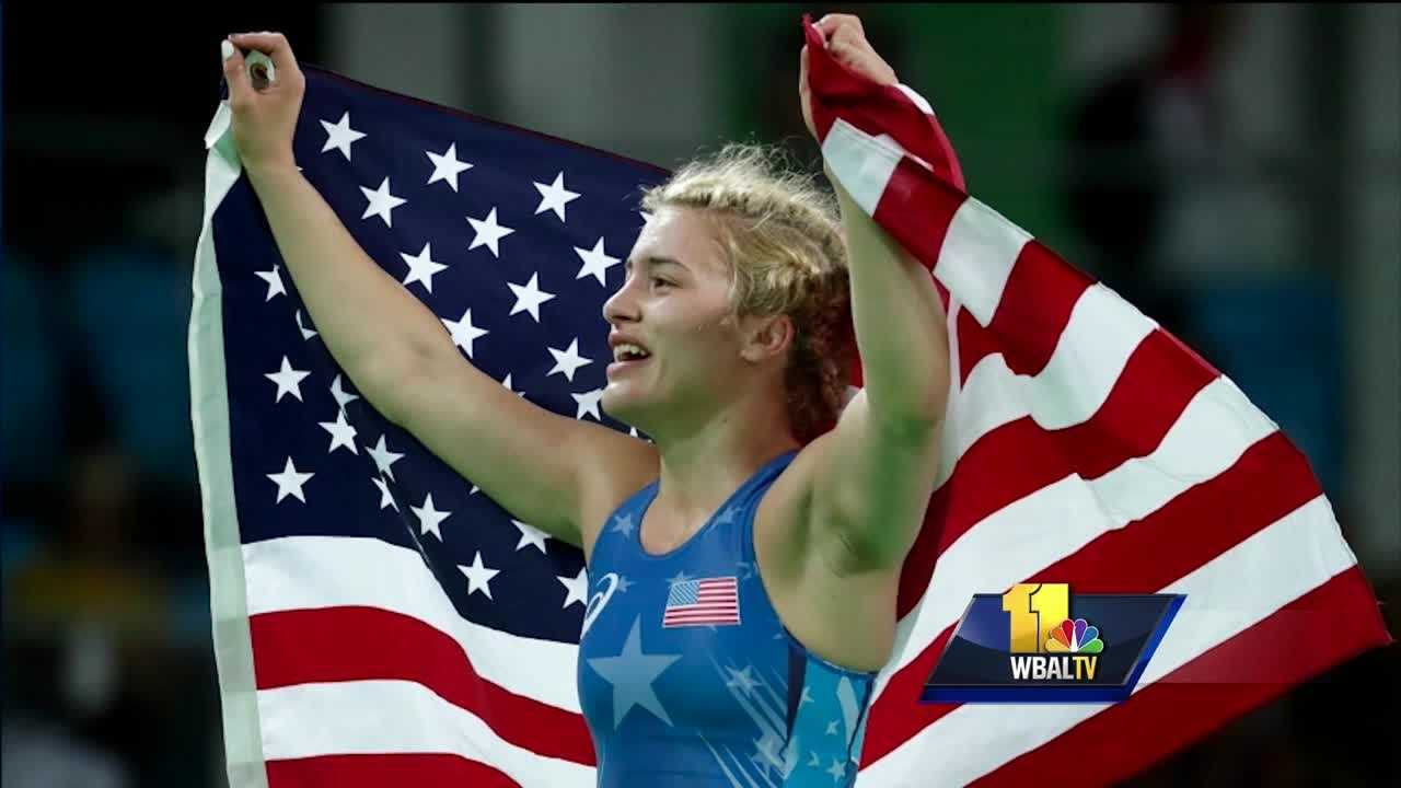 An Olympic gold medalist is at home in Maryland with a special message for her fans. Helen Maroulis is the first American woman ever to win gold in wrestling. It's long been considered a man's sport.