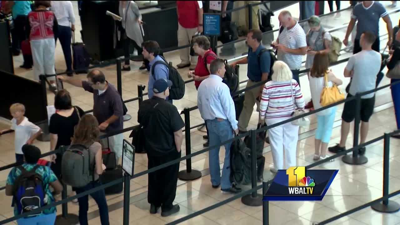 It's taking less time to process passengers at Baltimore-Washington International Thurgood Marshall Airport checkpoints, according to the Transportation Security Administration.