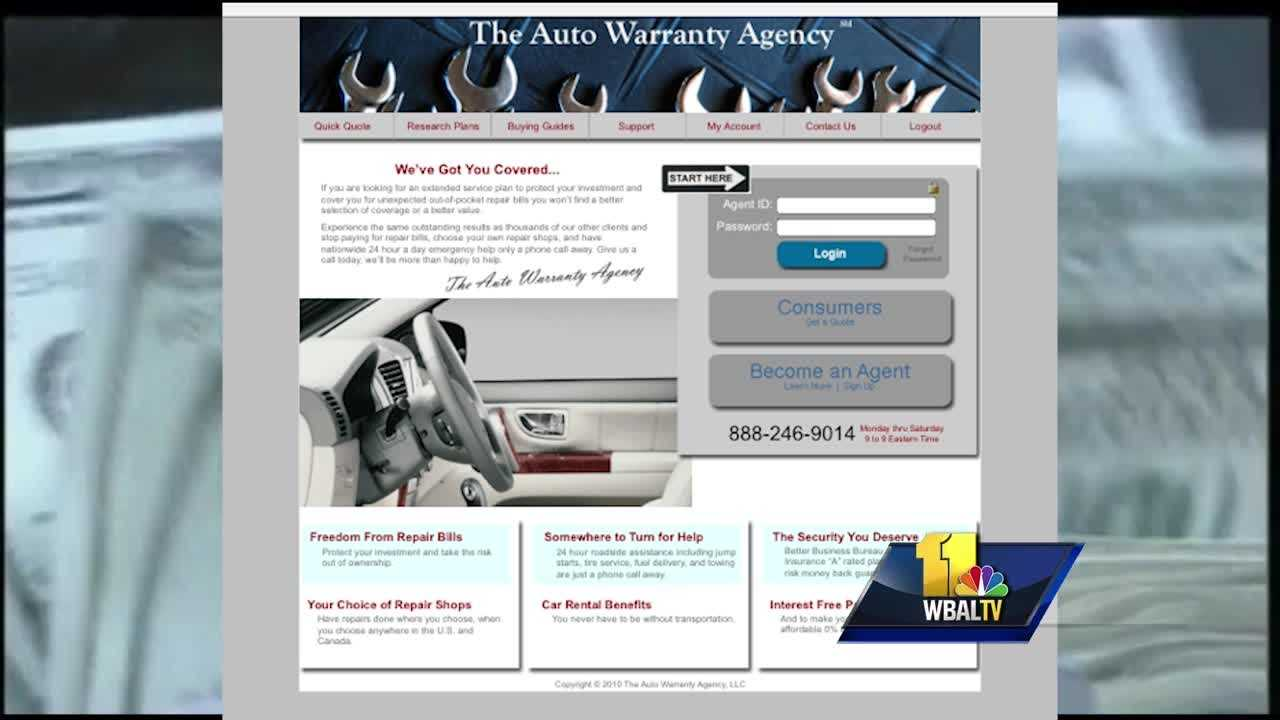 The Better Business Bureau of Greater Maryland is warning consumers about a Maryland-based auto warranty company that they said is doing bad business with customers' money. The BBB has given the Auto Warranty Agency an F rating and officials said they're dealing with a lot of frustrated customers.