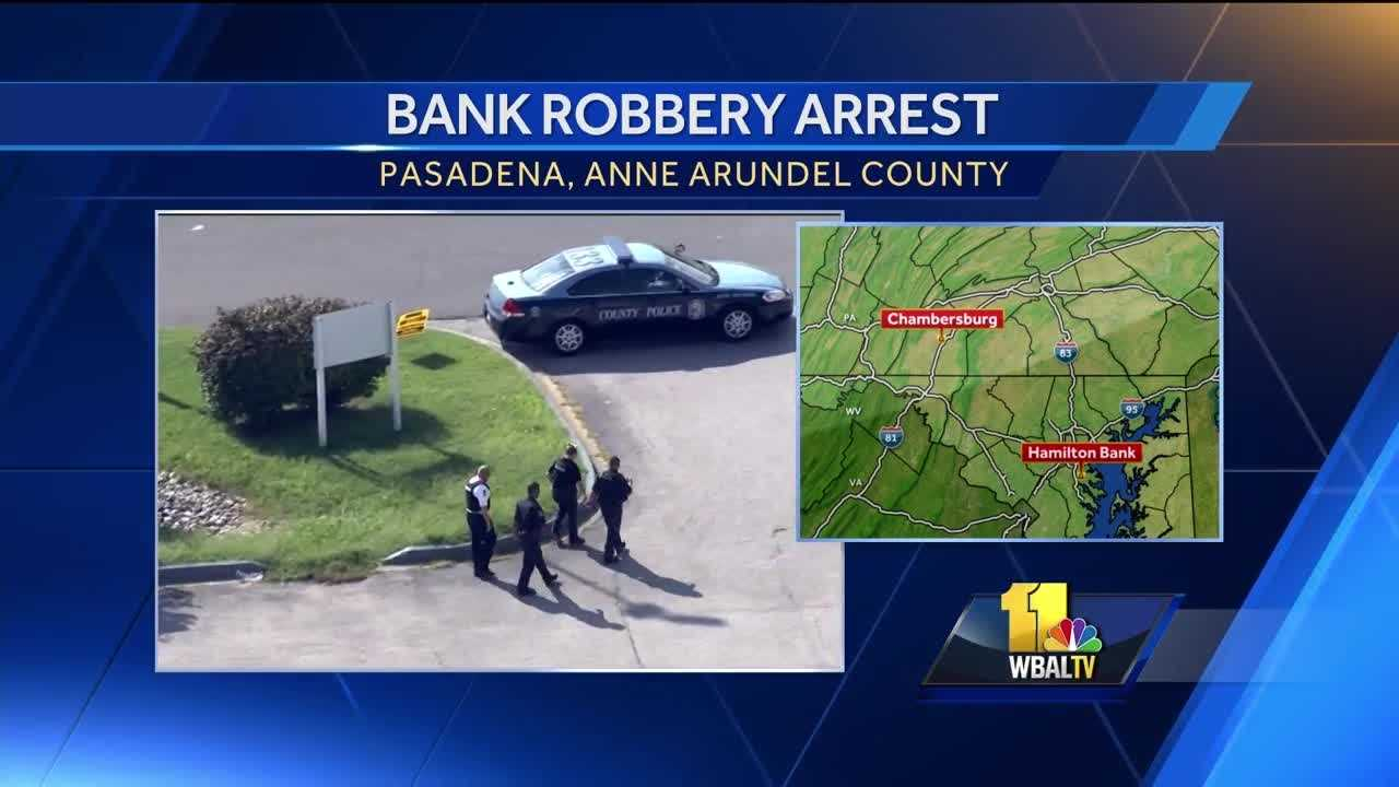 Steven Murn, 48,  is suspected of using what turned out to be a fake explosive device to rob a Pasadena bank was arrested in Pennsylvania, Anne Arundel County police said.