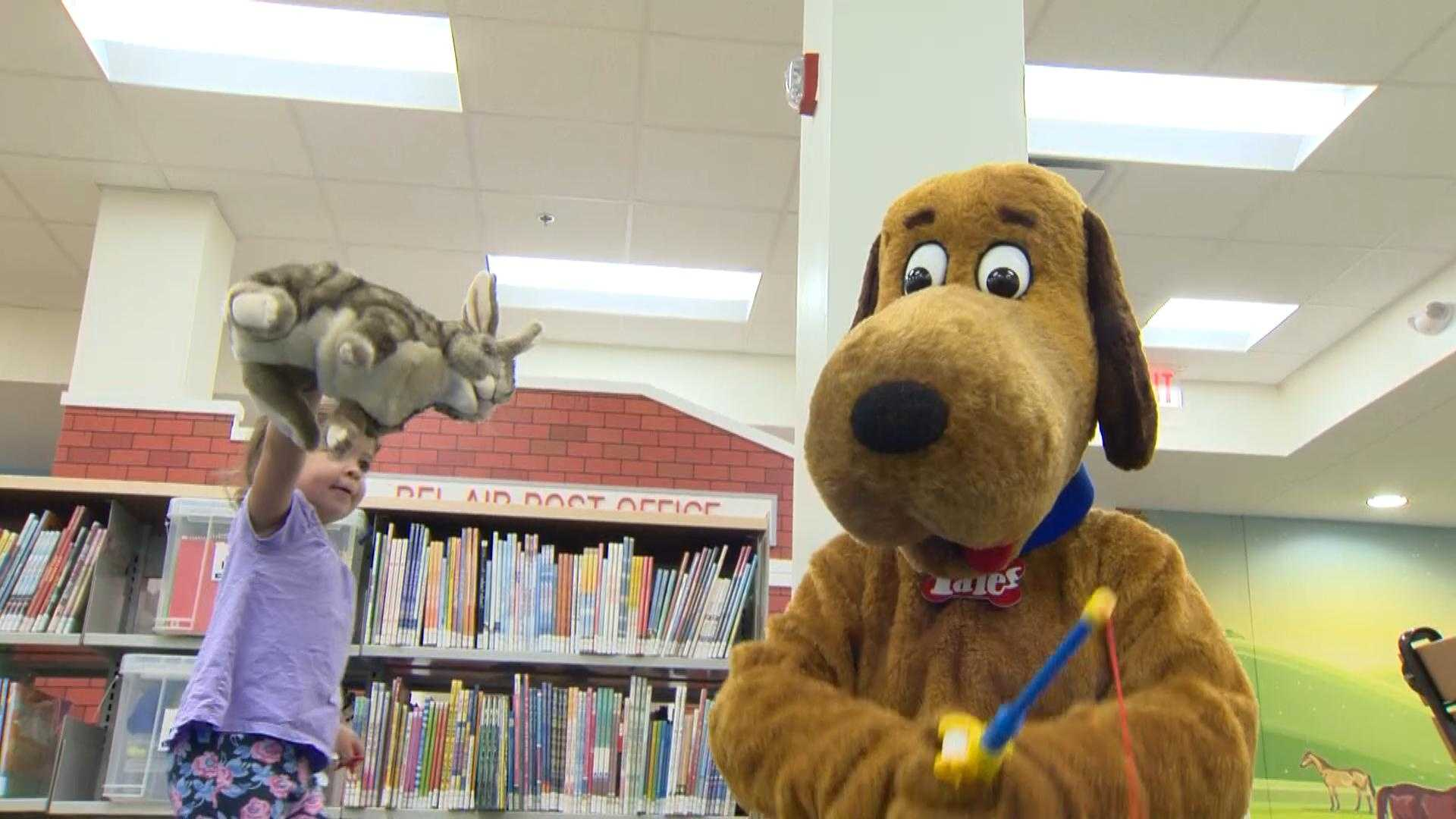 It has been closed for months, but Thursday morning the library in Bel Air re-opened its new children's department.