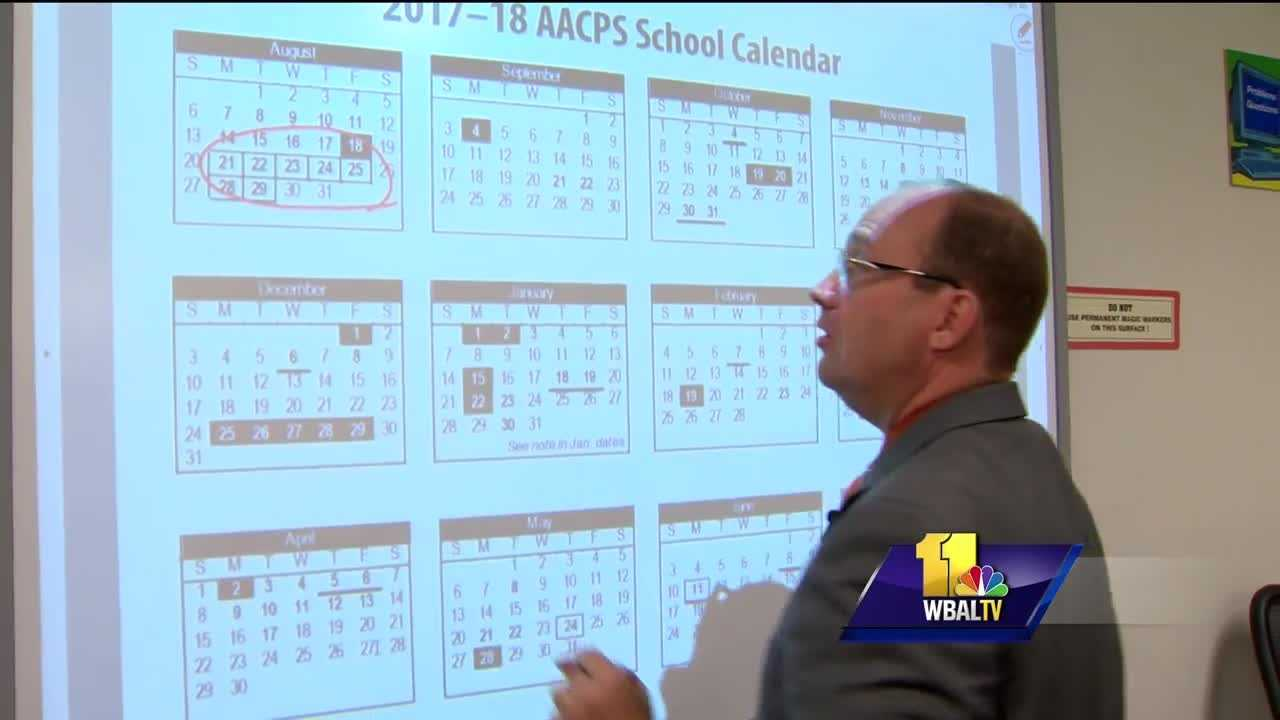 Anne Arundel County was one of the first school systems in the region to welcome students back to campus. They're also one of the first to admit it won't be easy to revise next year's school calendar. The school system's calendar committee only has a couple of months to make final changes before it has to be approved by the Board of Education.