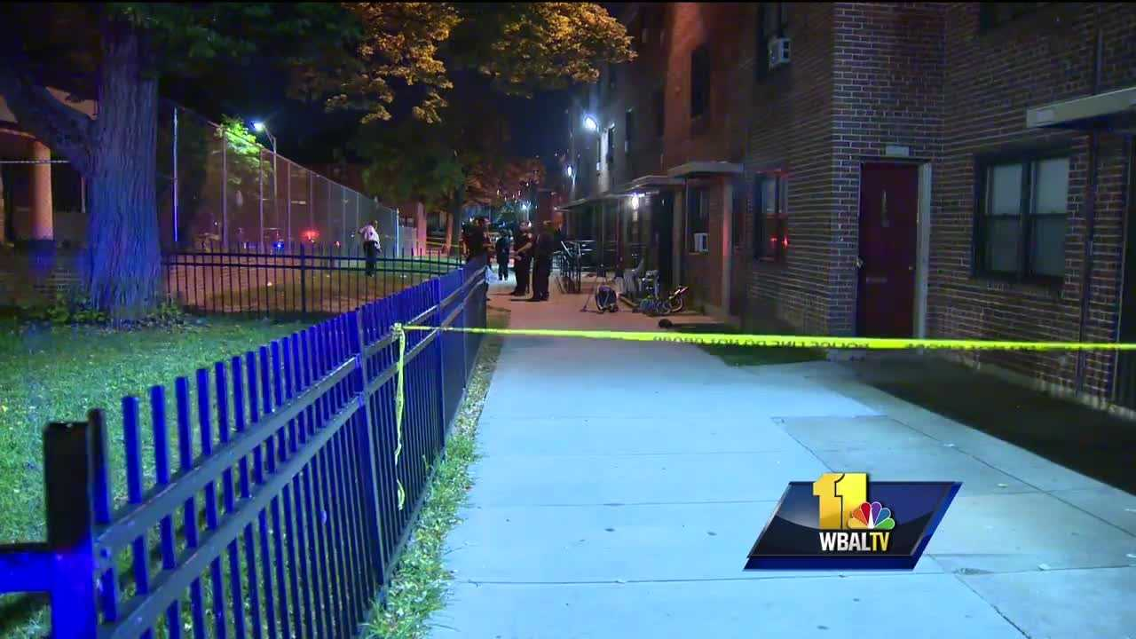 Two young children and an adult were shot Saturday night in east Baltimore.