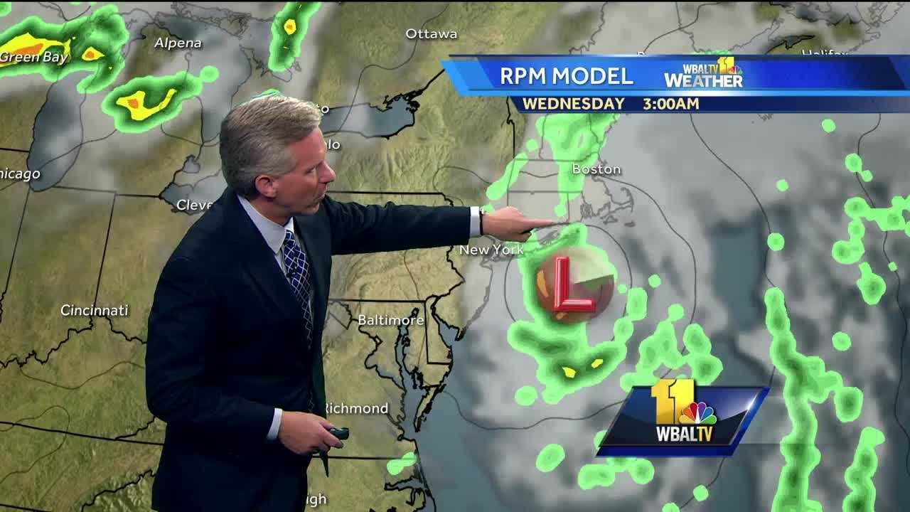 Chief Meteorologist Tom Tasselmyer shows how Hermine is tracking back toward the coast and how the heat will return in Maryland this week.