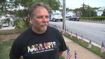 Chuck Ritz is the organizer of the Path of Honor in Parkville, where flags are placed to represent each person killed during the terrorist attacks on Sept. 11, 2001.