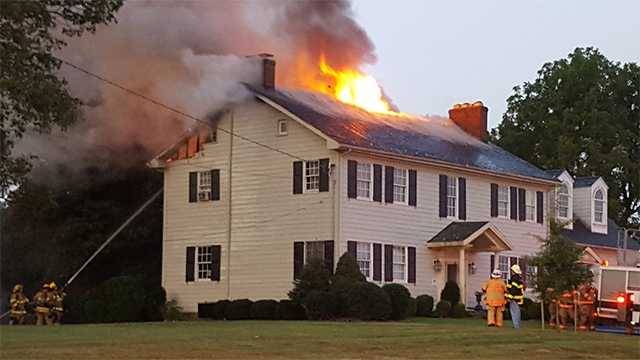 Fire burns attic of Harford County home